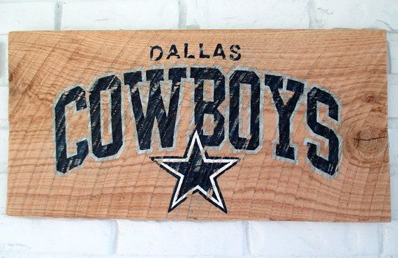 Dallas Cowboys Football Sign by VintageSignDesigns on Etsy