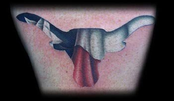 texas flag in longhorn outline tattoo tats pinterest