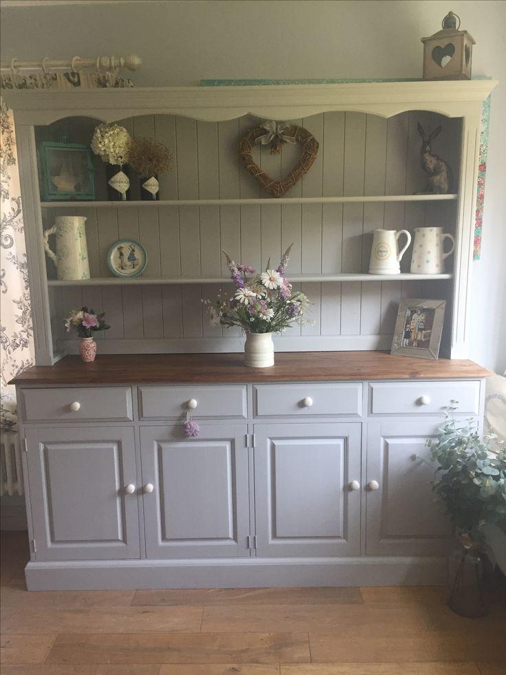 Farrow and ball plummet dresser. Hand painted by Mrs H Interiors in Devon, England.