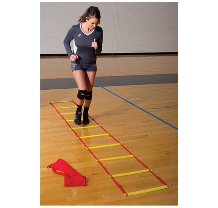 This Agility Ladder is great to use in training to increase speed, stamina, and conditioning.  Perfect for use in quick feet, high knee, or lateral quickness drills.