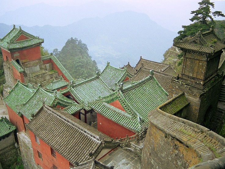 Ancient Building Complex Wudang Mountains China.  This is about 5 hours by car from Wuhan so I'm not sure if it's too far for us?
