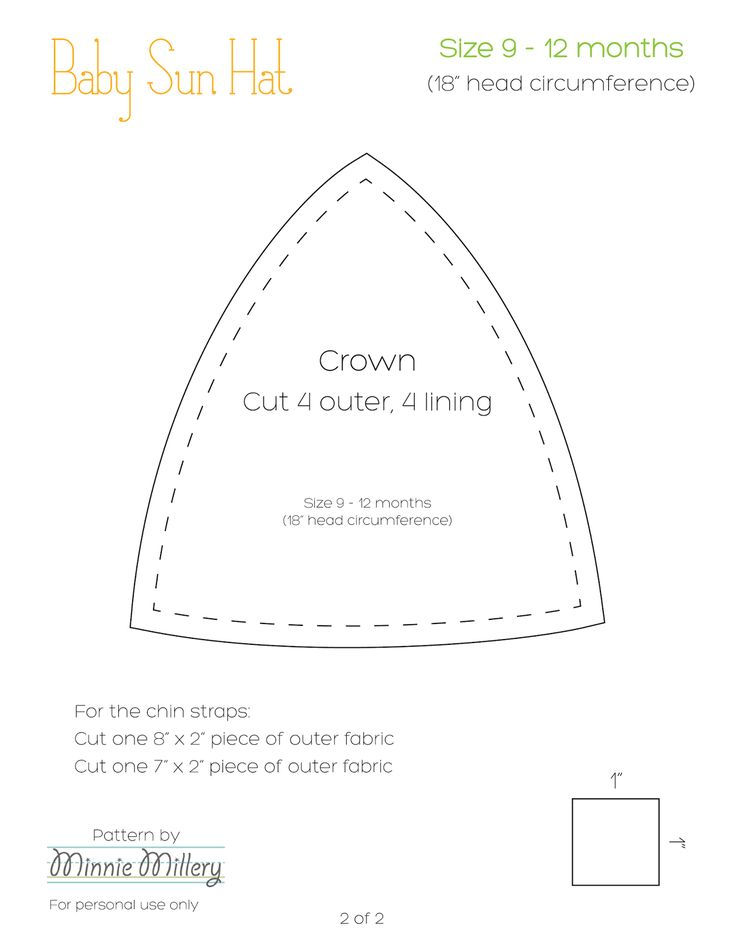 Our Nesting Ground: Baby Sun Hat Tutorial