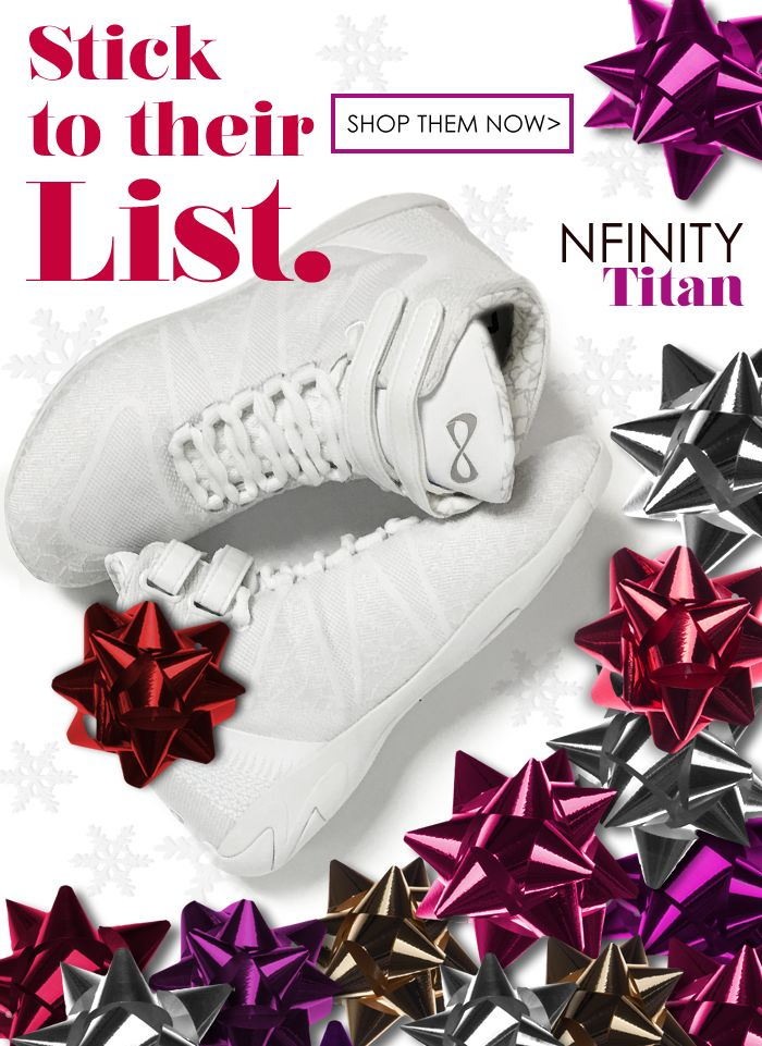 Nfinity Titan high top cheerleading shoes are so amazing! We NEED them! Hint Hint: So does your cheerleader!