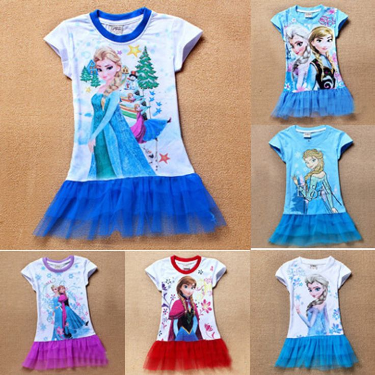 Retail 2017 Toddler Girl clothes dress summer lace anna elsa girl toddler clothes dress 2017 toddler clothes dress for girl kids