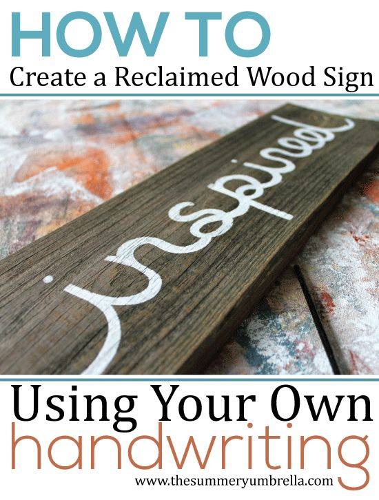 How To Create A Reclaimed Wood Sign Using Your Own