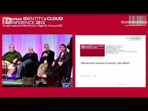 VRM - The European Identity & Cloud Conference 2012 panel discussion.