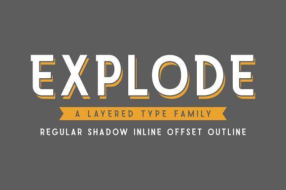 Explode Type Family by Angga Mahardika on @creativemarket