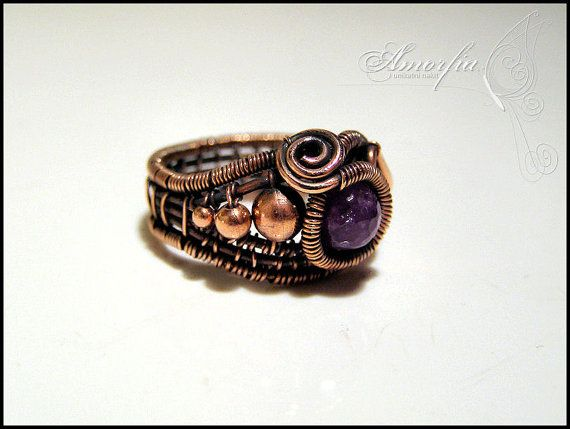 Awesome Copper Wire Jewelry Rings Ornament - Simple Wiring Diagram ...
