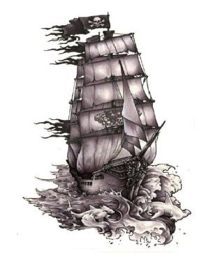 Waterproof Temporary TattooThe Black Pearl Pirate Ship tatuajes tattoo Water Transfer fake tattoo flash tattoo for man woman. Yesterday's price: US $1.28 (1.04 EUR). Today's price: US $0.96 (0.78 EUR). Discount: 25%.