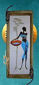 femme au panier  Songe Turquoise - Isabelle Vautier
