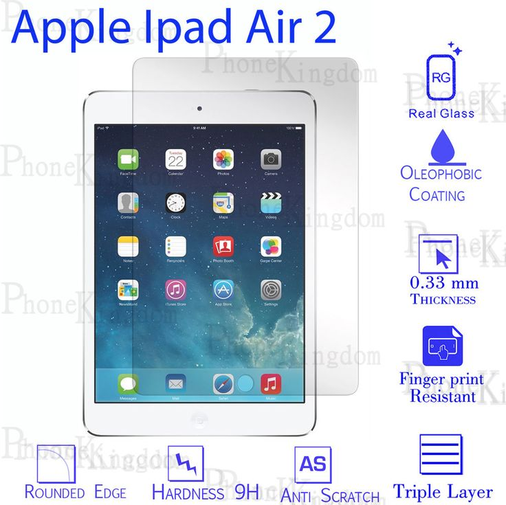 Genuine Gorilla Tempered Glass Film Screen Protector For Apple iPad Air 2 Wi-Fi