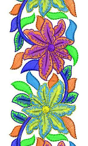 Flat Embroidery Dress Design