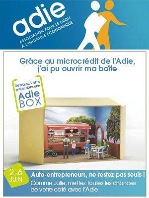 Auto-entrepreneur et microcrédit, semaine d'info avec l'Adie. Du 2 au 6 juin 2014 à la-rochelle.