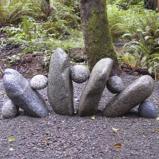 stone sculpture in the garden