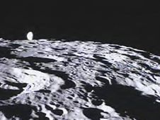 One of two NASA spacecraft orbiting the moon has beamed back the  first student-requested pictures of the lunar surface from its onboard camera.