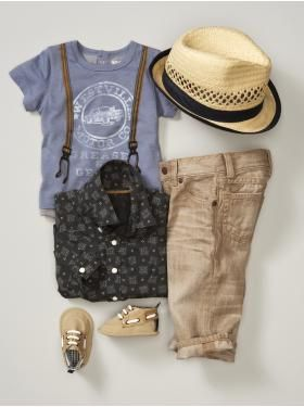 Love this outfit for a little boy!