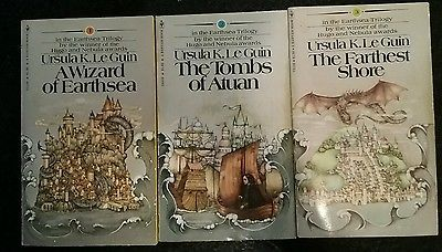Ursula-K-Le-Guin-The-Earthsea-Trilogy-3pb-complete-fantasy. My all time favorite stories!