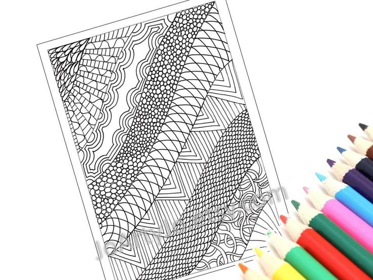 Printable Coloring Page Zentangle Inspired Pdf Zendoodle