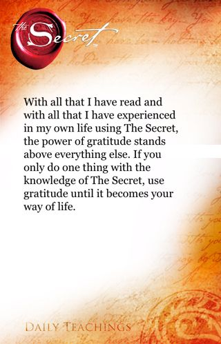 The Secret ~ Law of Attraction. Before buying into any self-help course or system check out seeksafely.org