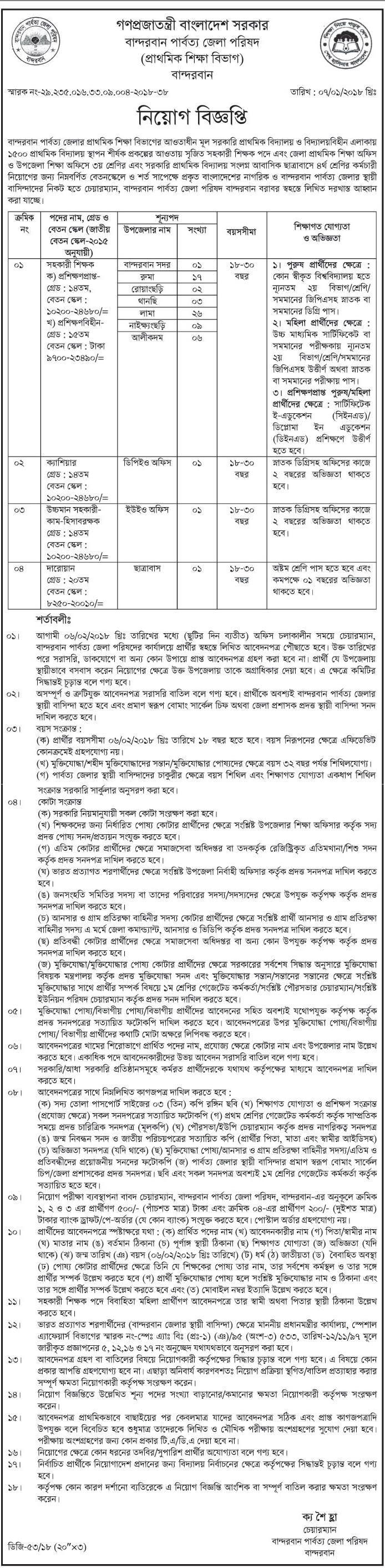 Primary School Assistant Teacher Job Circular 2018 - Job Education 24