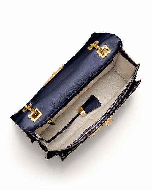 Michael Kors Gia Kette-Riemen Klappe Tasche Navy deutschland 1 #Handbags#jewellery #jewellerydesign}
