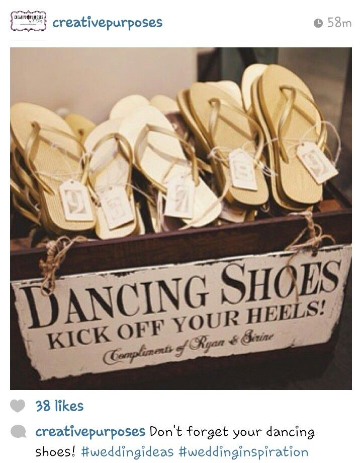 Flip flop extras at a wedding to dance the night away