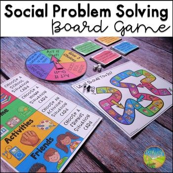 Practice social skills and social problem solving with a board game! The game includes over 80 scenario cards focused on real life social situations at school, at home, with friends, and during activities. After reading the cards, kids will act the out the situation, discuss consequences, give three options, identify what they would do, and more.