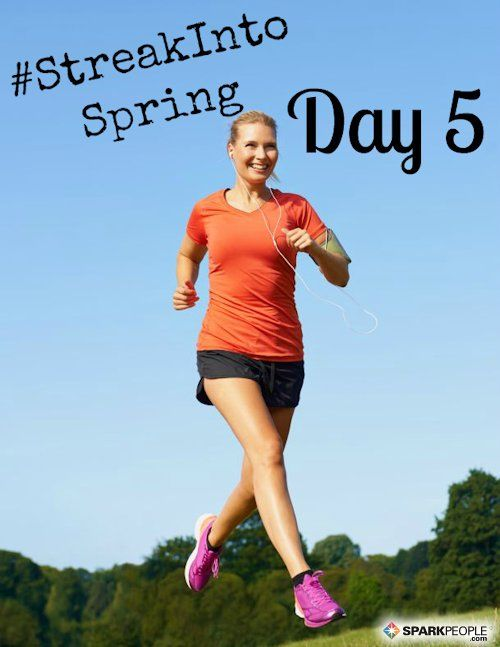 Good morning! Here's a fun #StreakIntoSpring challenge for today: Choose 5 of your favorite cardio and/or strength exercises. (For example, you might pick squats, jumping jacks, push-ups, sit-ups and jump rope.) Do each move for one minute, counting how many reps you can accumulate in that minute. Take a short break, and then do the five moves again for another minute each, seeing if you can get more reps the second time around! Who's in?? | via @SparkPeople #exercise #workout…