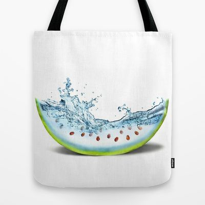 WATER-MELLON Tote Bag by hardkitty - $22.00