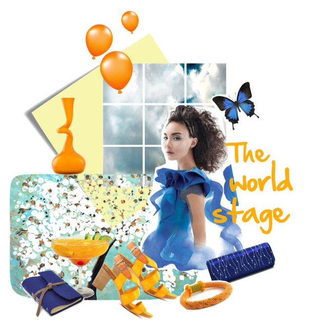 The world stage by artemisfantasy on Polyvore featuring Barclay Butera, FOSSIL, Liljebergs, Normann Copenhagen, Post-It, Blue and orange