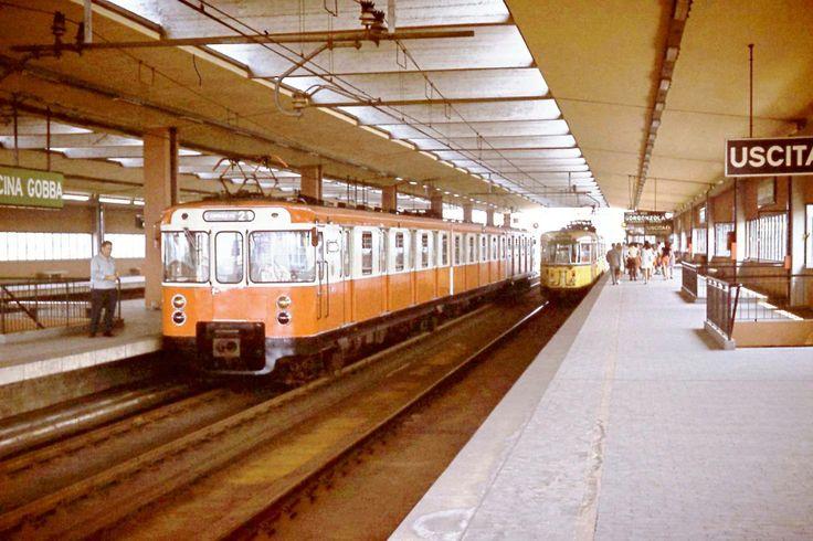Cascina Gobba station, line 2, circa 1970.