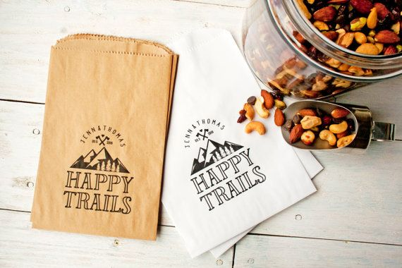 Wedding Favor Bags  Wedding Favor Trail Mix   Happy by mavora