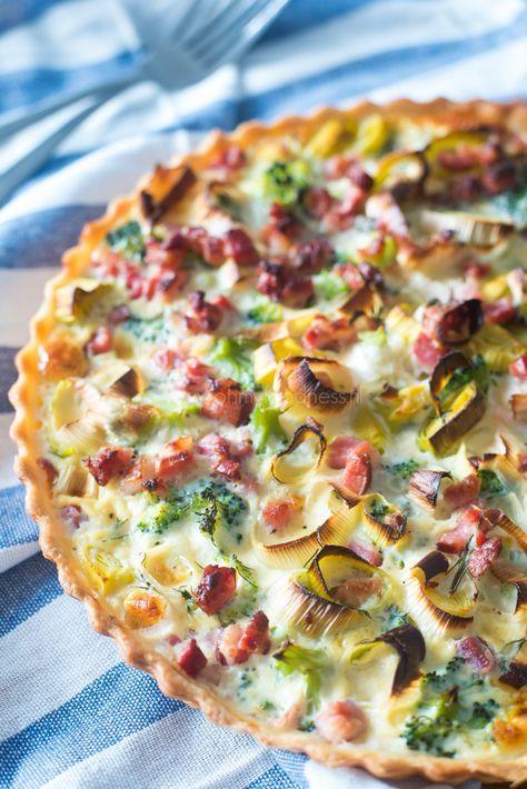 Quiche met prei, broccoli en spekjes - OhMyFoodness