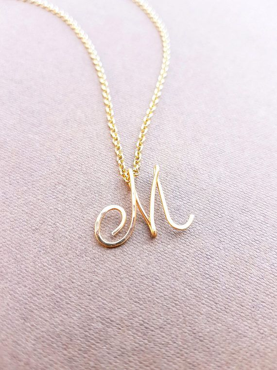 ce66a3d495c Cursive Gold Letter