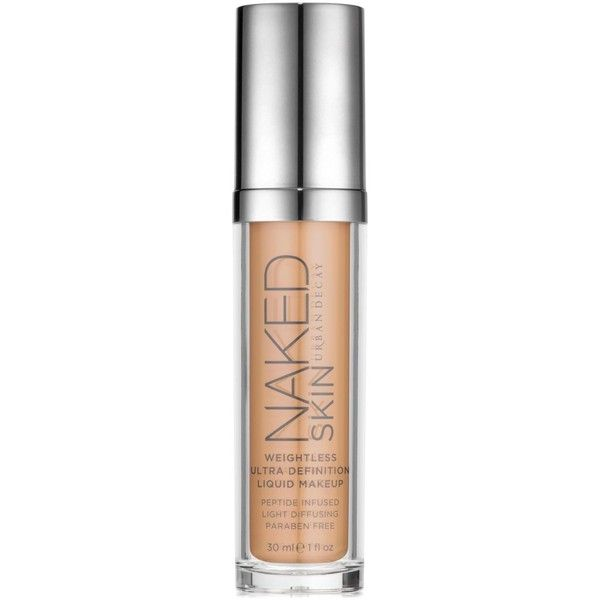 Urban Decay Naked Skin Weightless Definition Liquid Makeup ($40) ❤ liked on Polyvore featuring beauty products, makeup, face makeup, urban decay, urban decay makeup, urban decay cosmetics, paraben free cosmetics and paraben free makeup