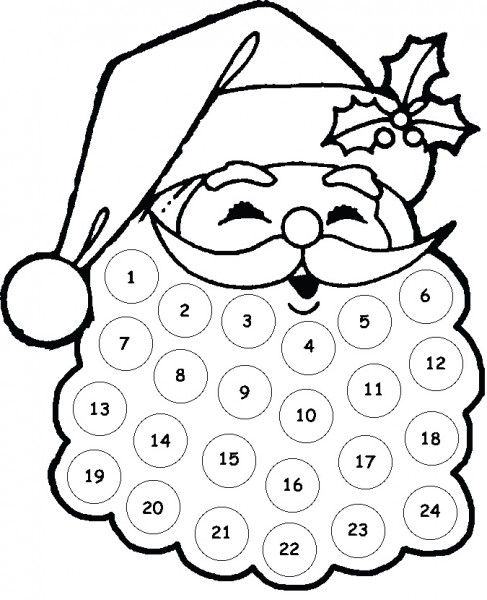 Kids Craft: Santa Advent Calendar