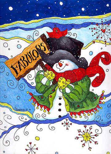 Mr. Fabulous by Jamie Carter ~ Christmas ~ snowman