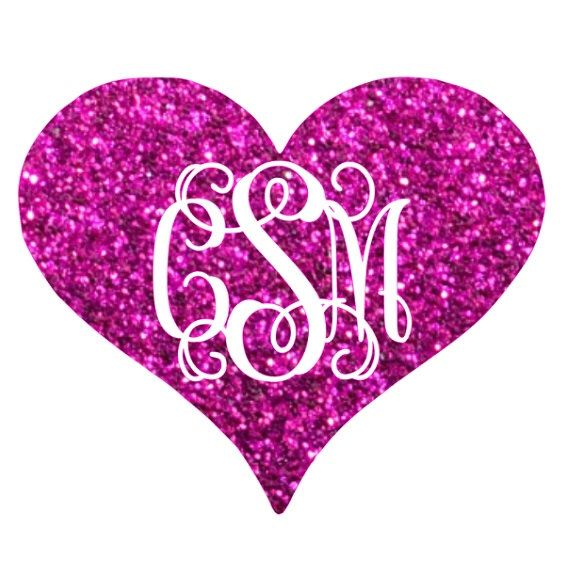 glitter heart monogram iron on valentines day iron on monogram iron on transfer iron on letters glitter vinyl heat transfer monogram