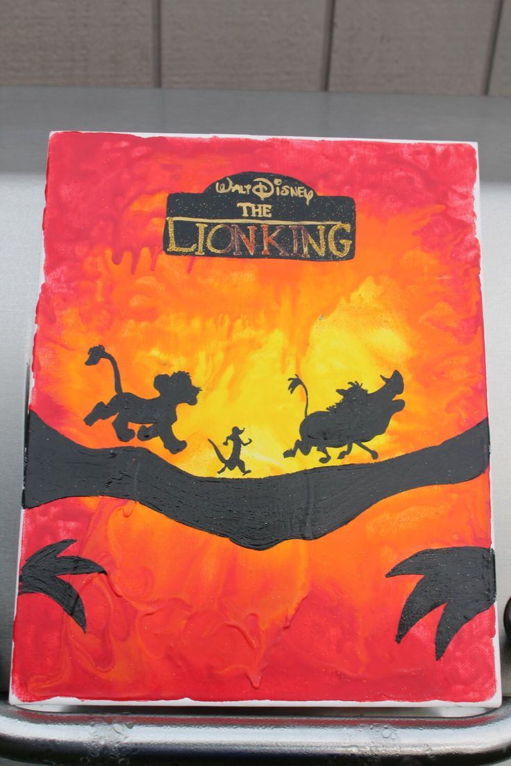 The Lion King Crayon Art Canvas By BeckysBittyBoutique On Etsy