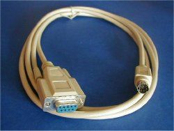 #6FT #Mini #Din #Eight #Pin #Male to #DB9 #Female. Serial Connection Cable.  #Mini Din Eight Male #DB 9 Feminine