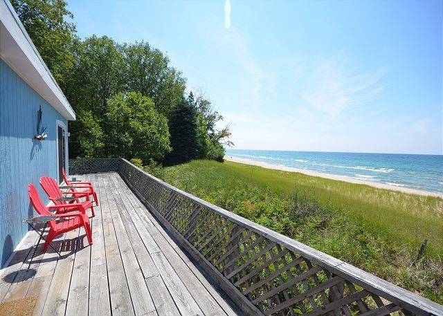 Experience Lake Michigan like you have never before, at this quaint cabin, tucked in the woods on miles of pristine Lake Michigan
