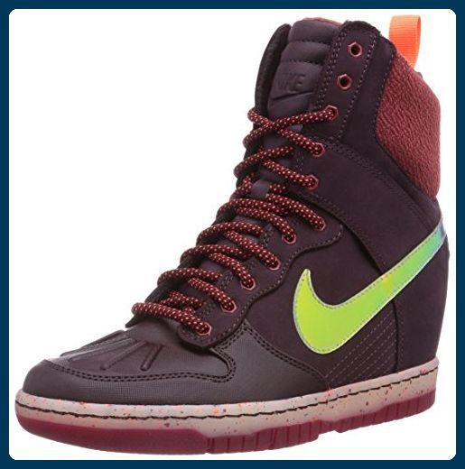 Nike Dunk Sky Hi SneakerBoot, Damen Hohe Sneakers, Braun (Dp Brgndy/Shmmr-Cdr-Hypr Crmsn), 41 - Sneakers für frauen (*Partner-Link)