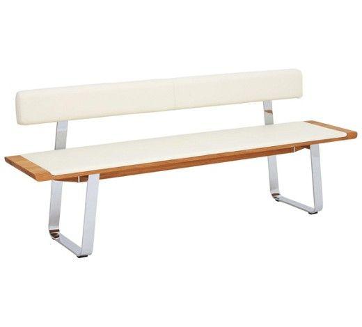 Gut SITZBANK In Holz, Leder, Metall Eichefarben, Weiß