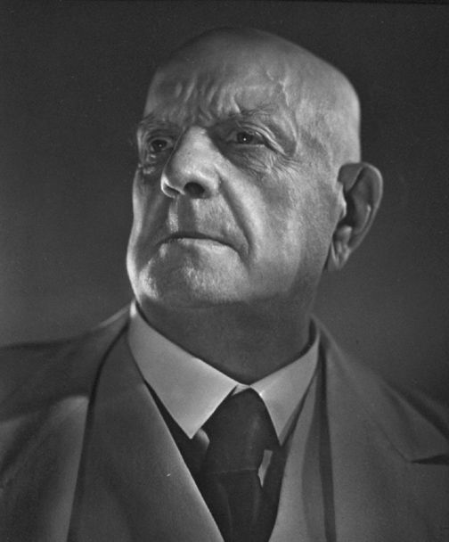 Jean Sibelius (1865-1957) - Finnish composer of the late Romantic period. His music played an important role in the formation of the Finnish national identity. Photo by Yousuf Karsh, 1945