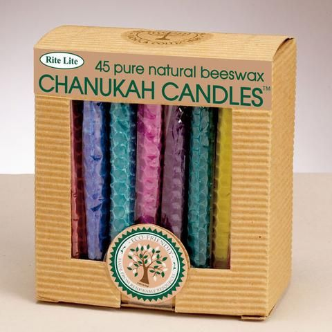 Multicolored Beeswax Hanukkah Candles | ModernTribe