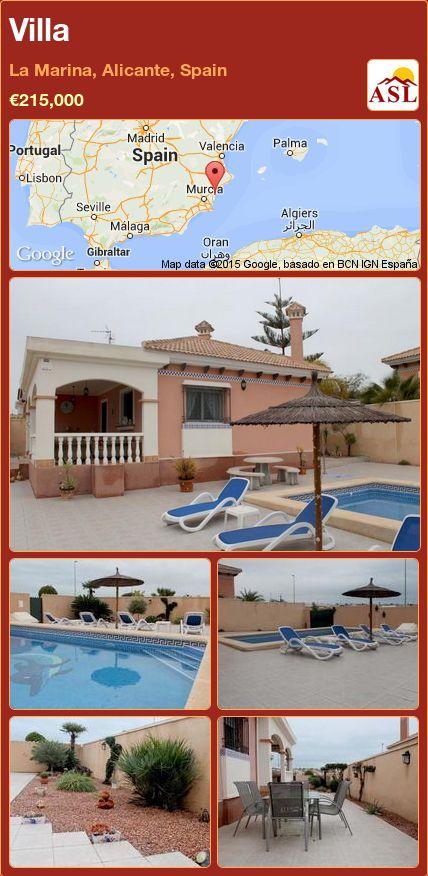 Villa in La Marina, Alicante, Spain ►€215,000 #PropertyForSaleInSpain
