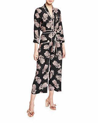 aff20e0fec5d Le Superbe Designer Beatnik Pineapple-Print Cropped Jumpsuit ...