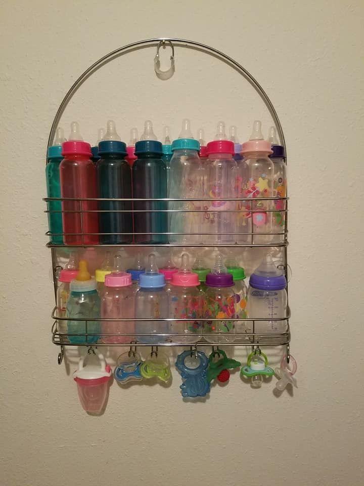 Shower rack for bottle organization