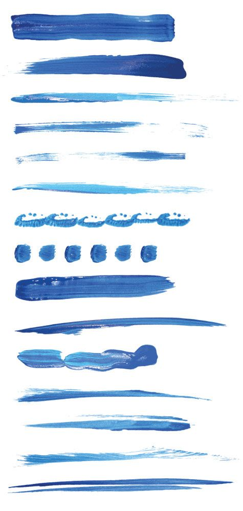 Free Vectors - 15 Paint Brushstroke Illustrator Brushes | Think Design