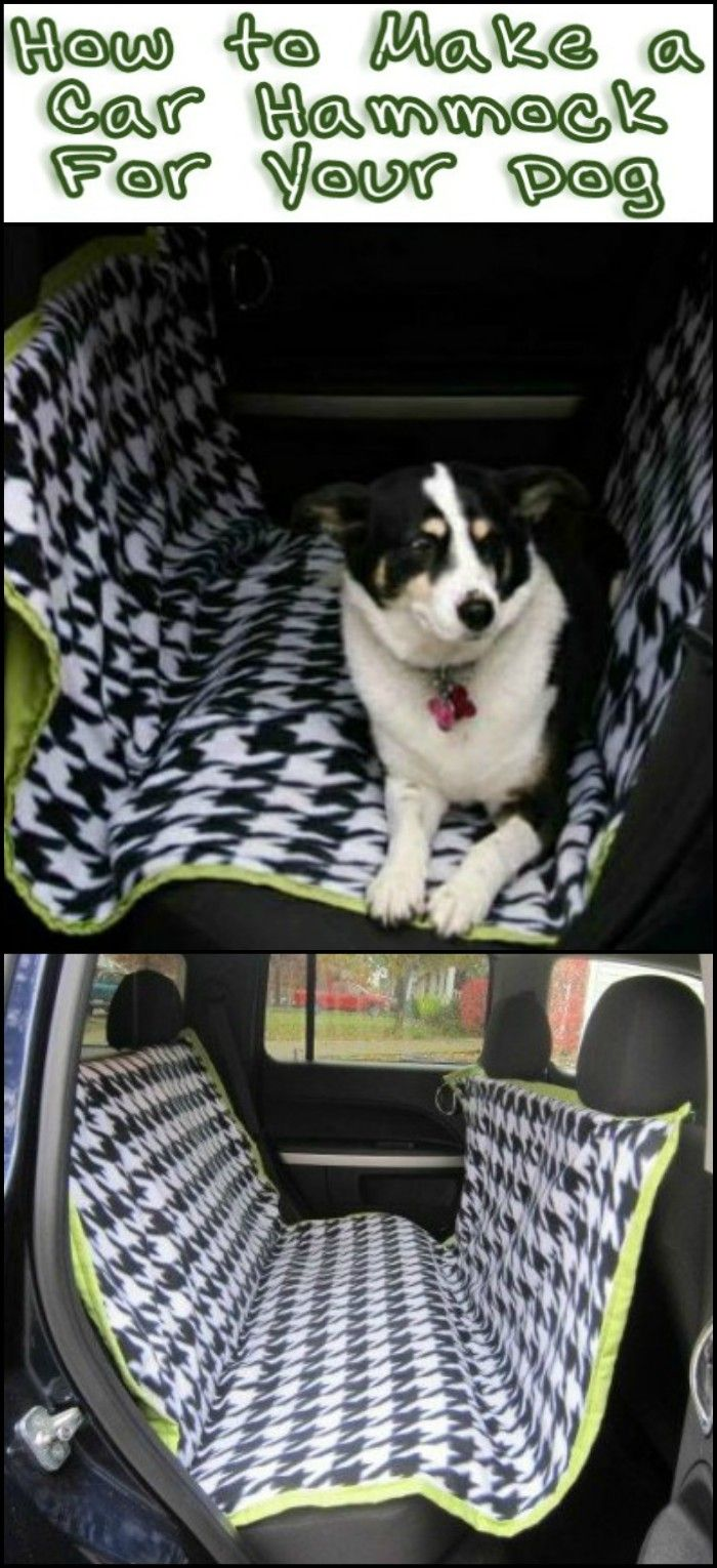 Protect your car seats from dog fur and scratch marks with this diy dog car hammock
